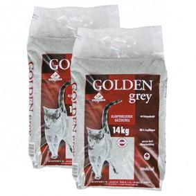 Litière pour chat Golden Grey au parfum de poudre pour bébé