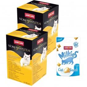Animonda Vom Feinsten Adult Mixpack Hühnchenvielfalt 12x100 g + Milkies Fresh Dental Care Knusperkis