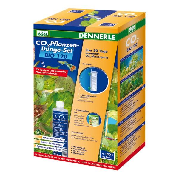 Dennerle Kit de fertilisation des plantes au CO2 BIO 120