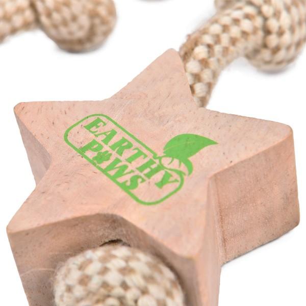 Earthy Pawz Holz Hundespielzeug Sternschnuppe