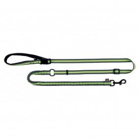 Trixie Joggingleine, 1,33-1,80 m/20 mm, grau/grün