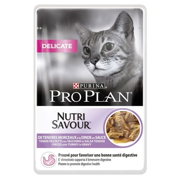 Pro Plan Katzen-Nassfutter Delicate Truthahn 24x85g
