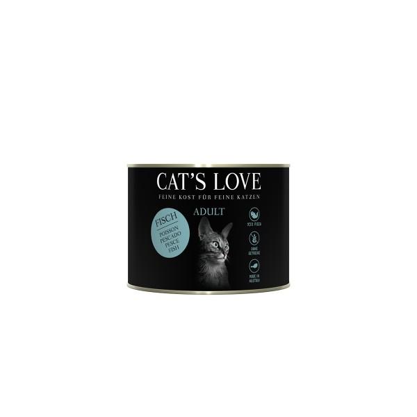 Cat's Love Nassfutter Fisch Pur mit Distelöl und Petersilie