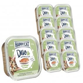 Happy Cat Paté auf Häppchen Geflügel & Lamm 12x100g