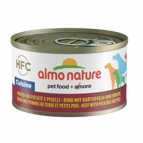 Almo Nature HFC Cuisine Dog Rind mit Kartoffeln und Erbsen 95g 5+1 gratis