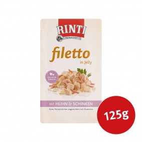 Rinti Hunde-Nassfutter Filetto in Jelly Huhn und Schinken