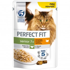 Perfect Fit Katzenfutter Senior mit Truthahn & Karotten