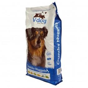 V-Dog křupavé veganské granule, 15 kg