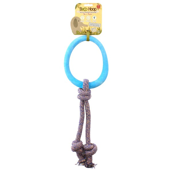 Beco Pets Spielring am Seil groß