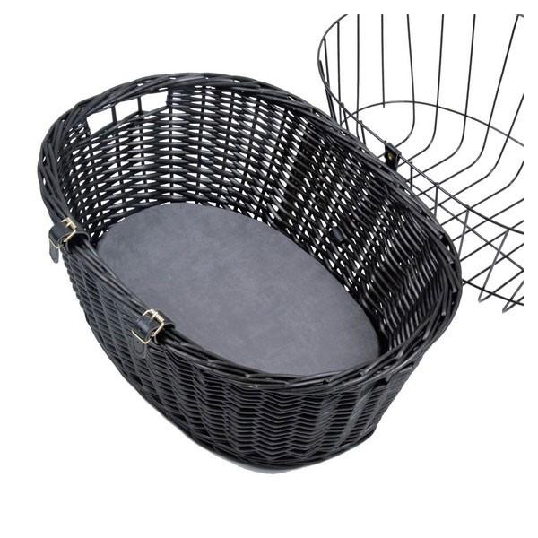 Trixie Fahrradkorb mit Gitter in Schwarz