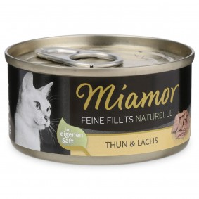 Miamor Feine Filets Naturelle Thunfisch und Lachs 80g Dose