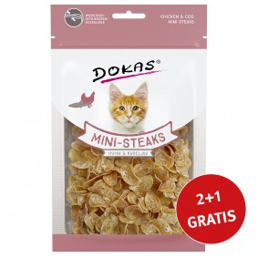 Dokas Mini-Steaks Huhn & Kabeljau
