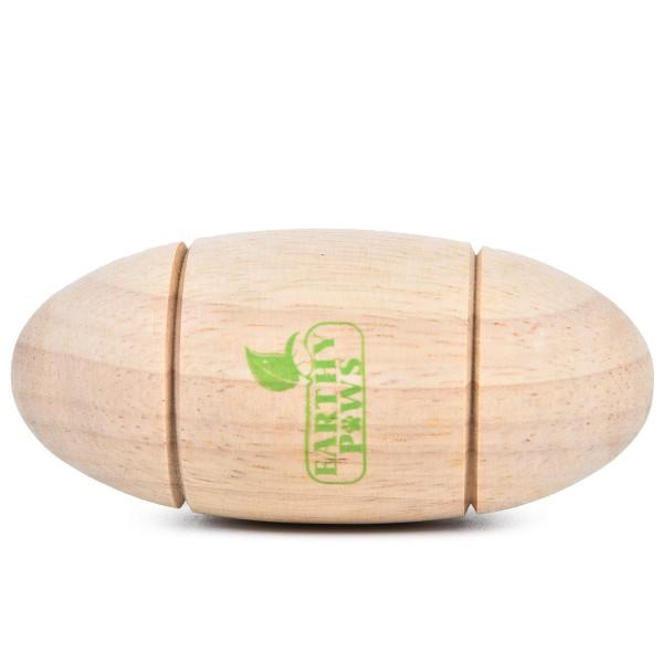 Earthy Pawz Holz Hundespielzeug oval 11 cm