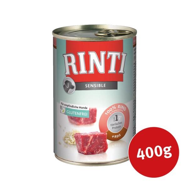 Rinti Hunde-Nassfutter Sensible Rind und Reis - 400g