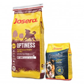 Josera Optiness 15kg + Knuspies 900g gratis