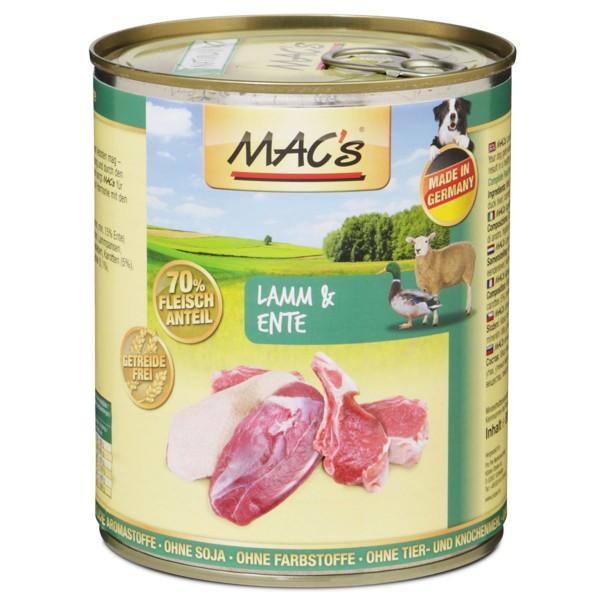 MAC's Dog Hunde-Nassfutter Lamm und Ente