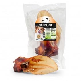 petcura fleischige Premium Rinderohren
