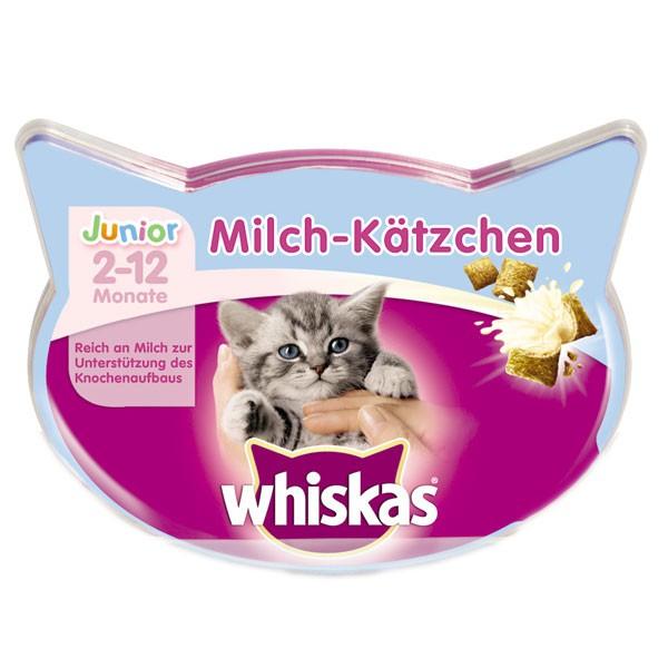 Whiskas Katzensnack Knusper-Taschen Milch-Kätzchen 55g