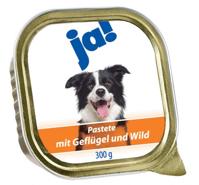 ja! Hundefutter Pastete mit Geflügel und Wild