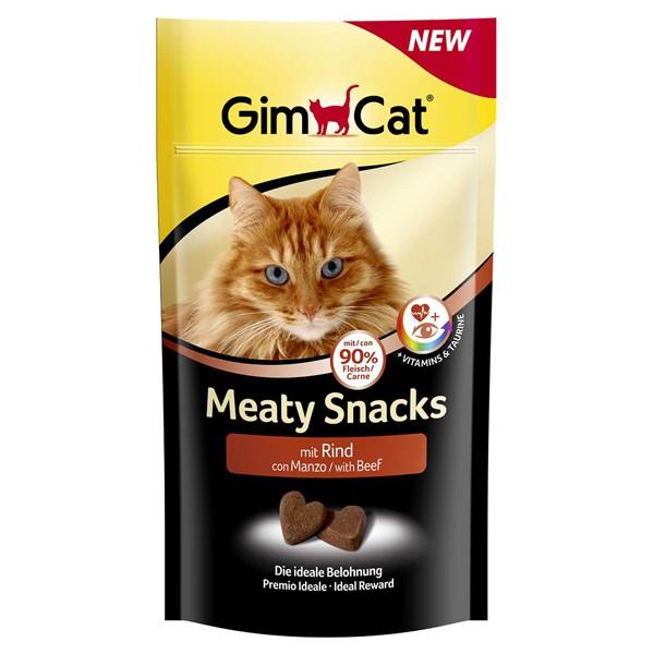 GimCat Meaty Snacks mit Rind 35g