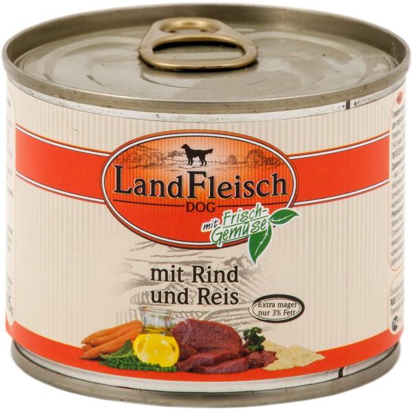 Landfleisch Hundefutter Dog Pur Rind und Reis extra mager