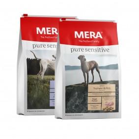 Sparpaket Meradog pure sensitive Lamm & Reis / Truthahn & Reis 2x12,5kg