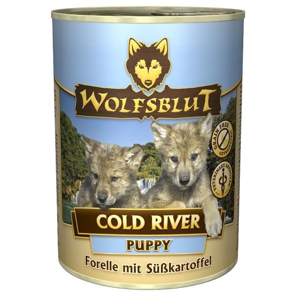 Wolfsblut Cold River Puppy mit Forelle