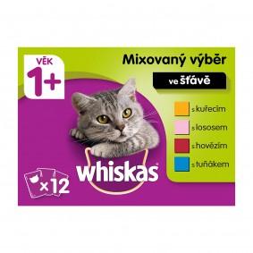 Whiskas kapsičky pro dospělé kočky: mixovaný výběr ve šťávě