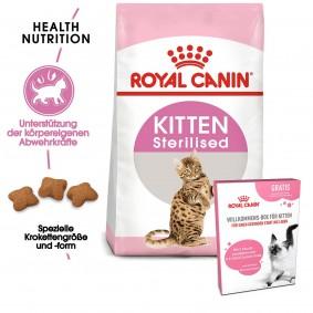 ROYAL CANIN Kitten Sterilised 3,5 kg + ROYAL CANIN Willkommens-Box Kitten