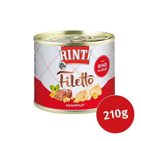 Rinti Hunde-Nassfutter Filetto Huhn & Rind in Jelly