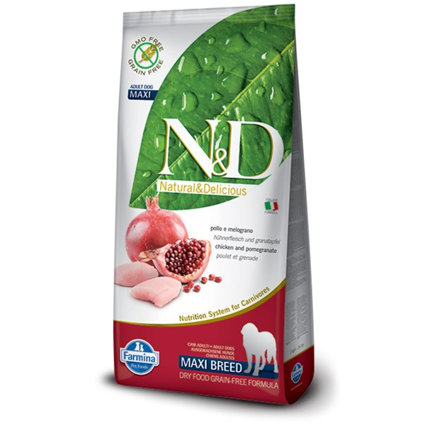 N&D Hundefutter Huhn&Granatapfel Adult Maxi getreidefrei 12kg