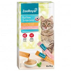 ZooRoyal Katzenschleckies Geflügel Leber & Lachs 8x15g