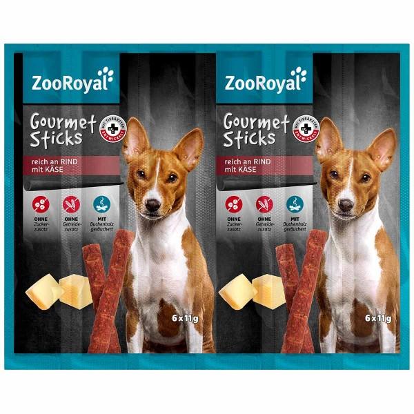 ZooRoyal Gourmet Sticks reich an Rind mit Käse