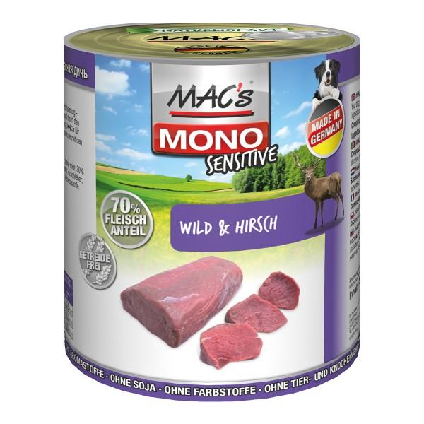 MAC's Dog Mono Hunde-Nassfutter Sensitive Rotwild