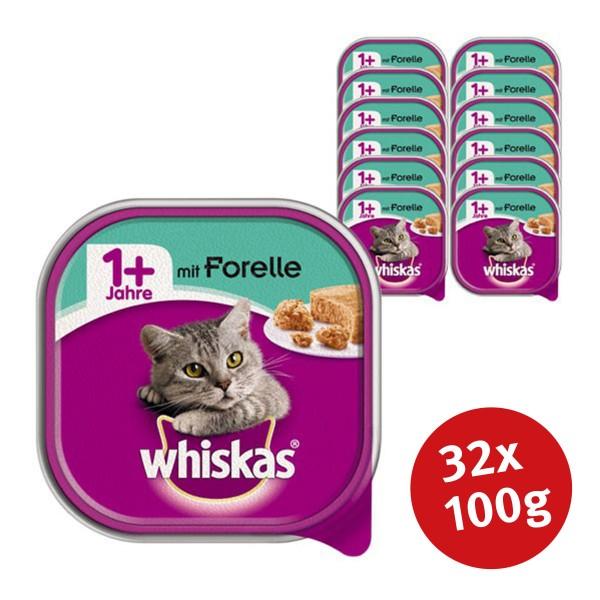Whiskas Katzenfutter 1+ mit Forelle 32 x 100g