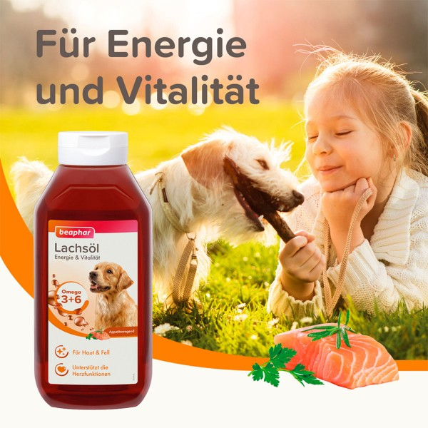 beaphar Lachsöl für Hunde und Katzen 430ml
