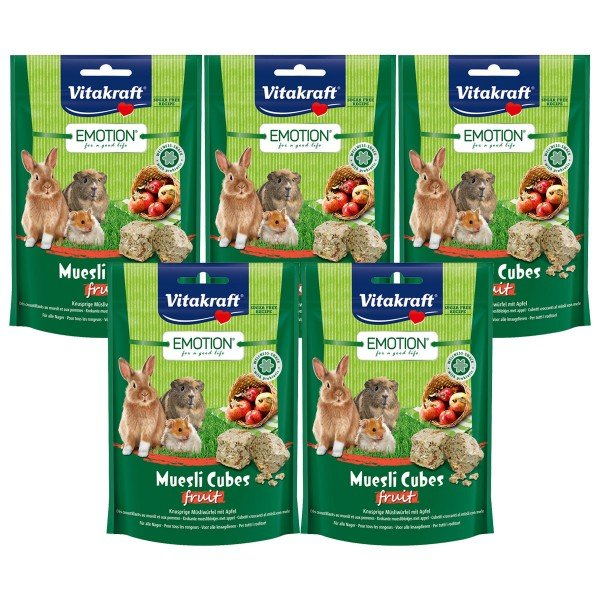 Vitakraft Emotion Müsli Cubes Fruit 5x80g