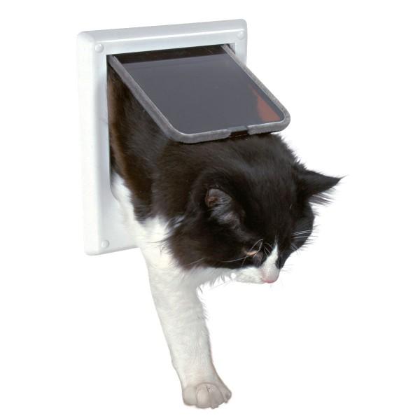 Trixie 4-Wege Katzenklappe, elektromagnetisch 21,1 x 24,4 cm