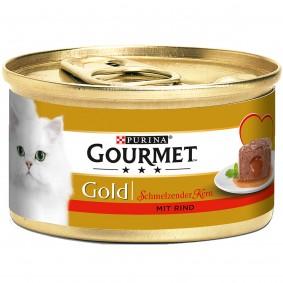 Gourmet Gold Schmelzender Kern mit Rind 9+3 GRATIS