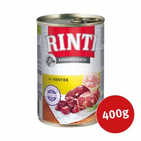 Rinti Nassfutter Kennerfleisch mit Rentier