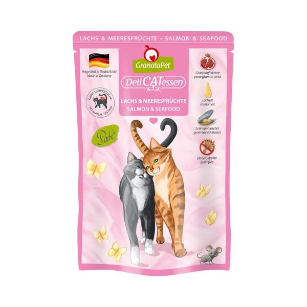 GranataPet Katze - Delicatessen Pouch Lachs & Meeresfrüchte