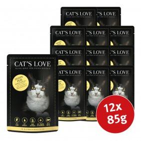 Cat's Love Nassfutter Huhn Pur mit Leinöl & Brennnessel