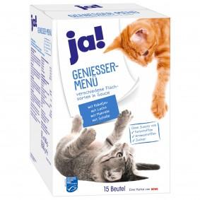 ja! Genießer Menü Multipack Fisch für Katzen 120x100g