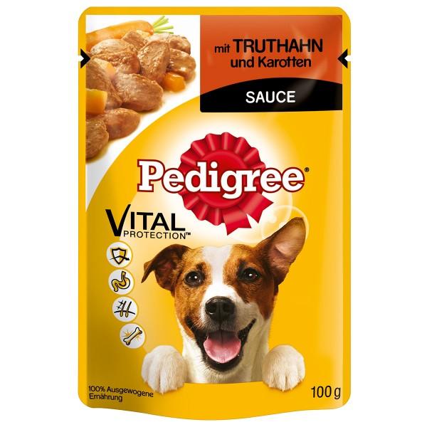 Pedigree mit Truthahn und Karotten in Sauce