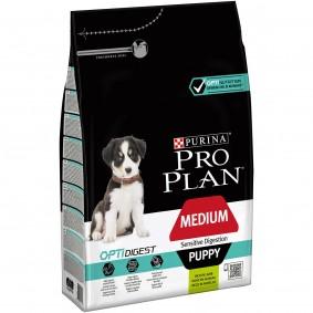 Pro Plan OPTIDIGEST Sensitive Digestion Medium Puppy 4x3kg + 3kg gratis