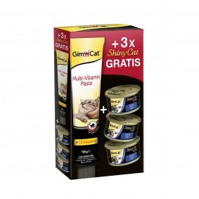 GimCat Multi-Bundle Multivitamin 100g plus 3x ShinyCat Thunfisch 70g