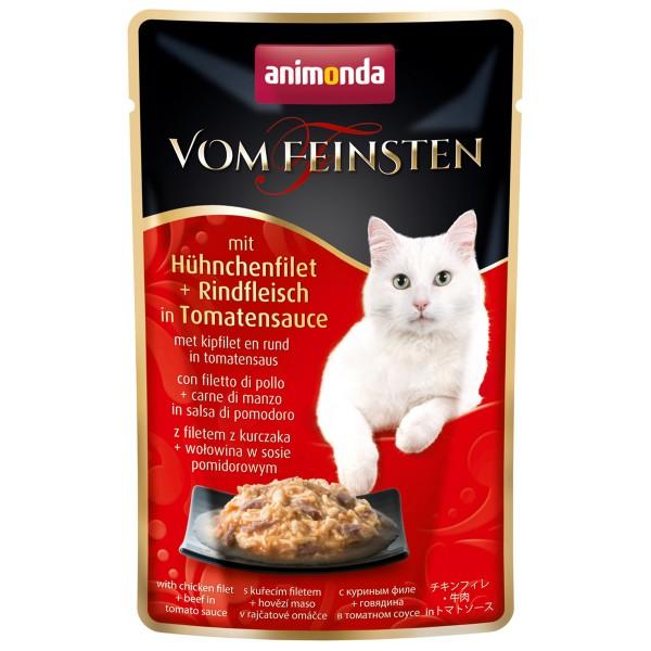 Animonda Vom Feinsten Adult mit Hühnchenfilet & Rindfleisch in Tomatensauce
