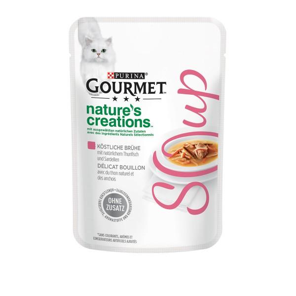 GOURMET Nature´s Creation Soup Köstliche Brühe mit Thunfisch und Sardellen