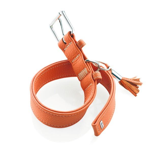 Hunter Leder-Halsband Cannes orange