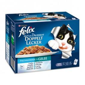 Felix So gut wie es aussieht Doppelt lecker Fisch Mix12x100g